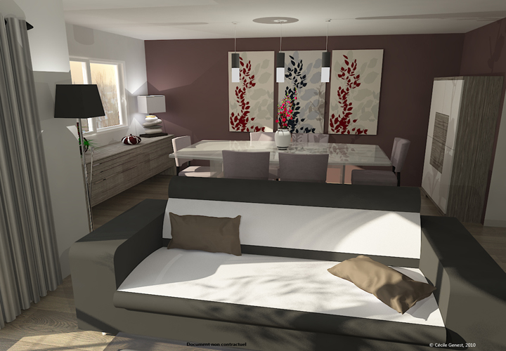 Idee deco salon contemporain - maison parallele