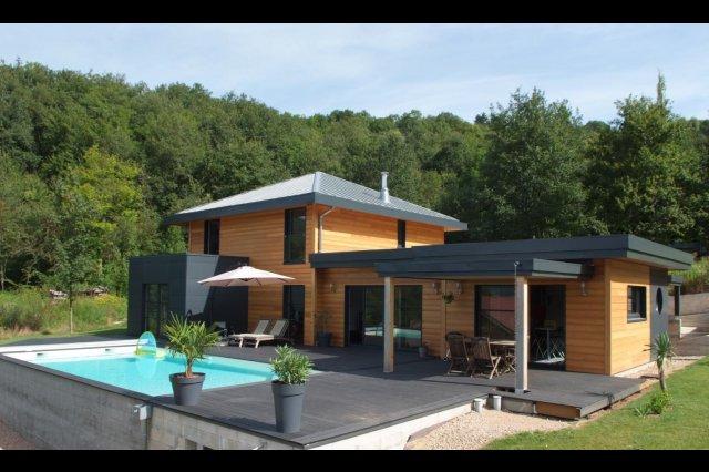 Maison Moderne Toit 4 Pans. Good Sous Plan Maison Moderne Plain Pied ...