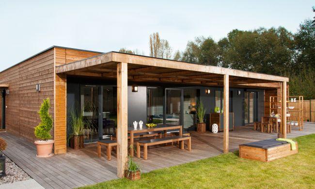 Maison Plain Pied En Bois. Grande Maison De Plain Pied Avec Terrasse ...
