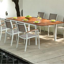 Awesome Table De Jardin Aluminium Bois Contemporary - Amazing ...