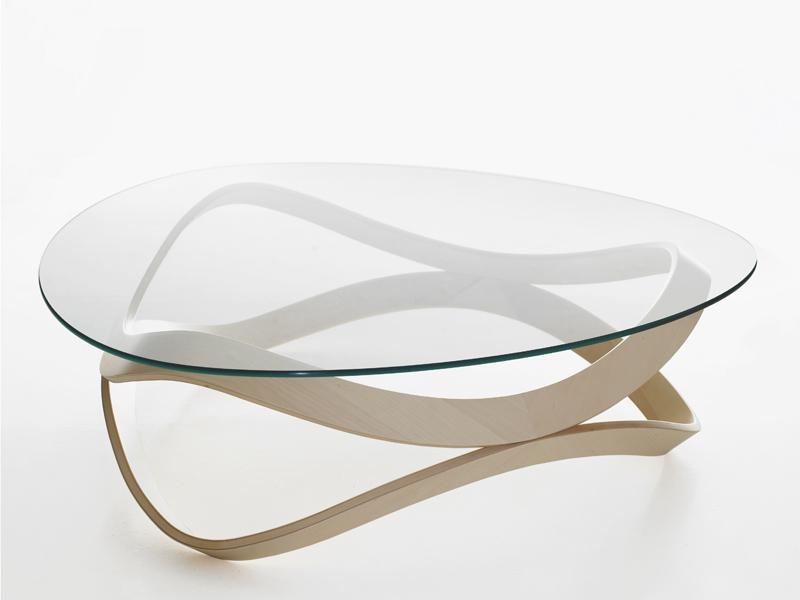 Table basse en verre ronde design