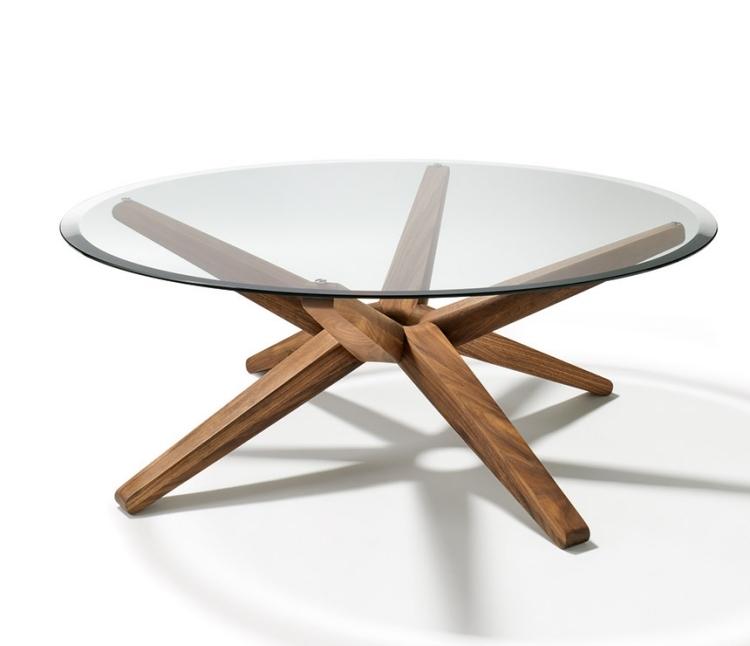 Beautiful Table Ronde Verre Bois #6: ... Wonderful Table De Salon Verre Et Bois #13: Table Basse Ronde Bois Et  Verre ...