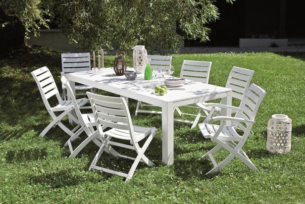 Salon de jardin blanc plastique - maison parallele