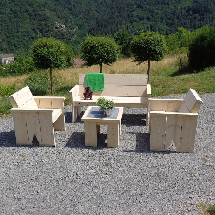 Beautiful Salon De Jardin Bois Recycle de Design - Idées décoration ...