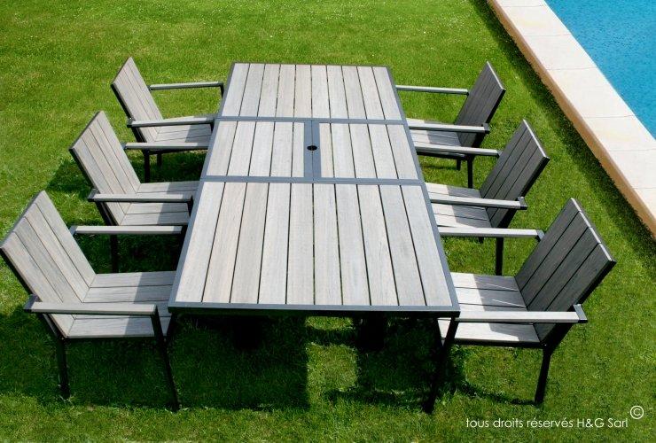 Salon De Jardin En Alu. Table. Table Jardin Composite Leroy Merlin ...