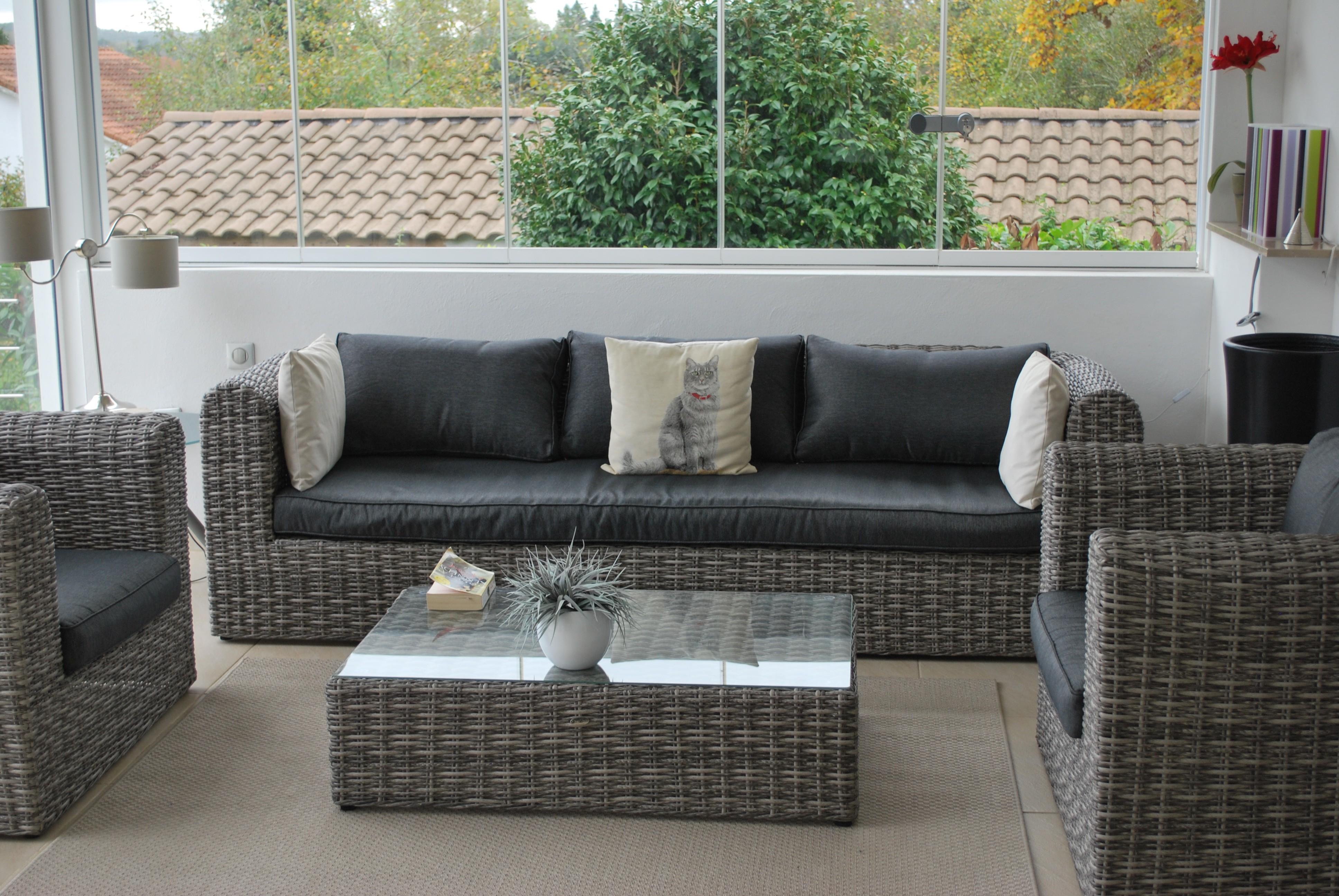 Best Salon De Jardin En Resine Imitation Rotin de Design - Photos et ...