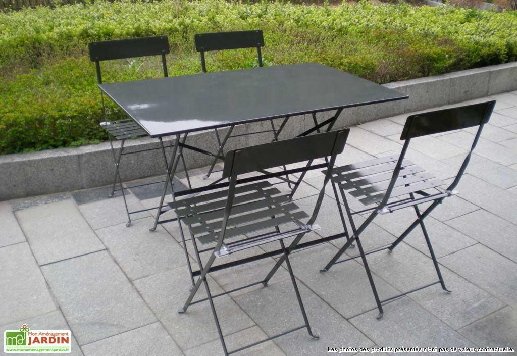 Emejing Table De Jardin Pliante En Metal Gallery - Amazing House