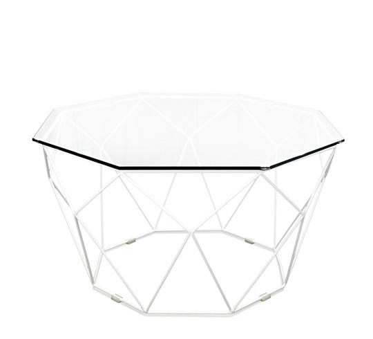 Table basse metal blanc