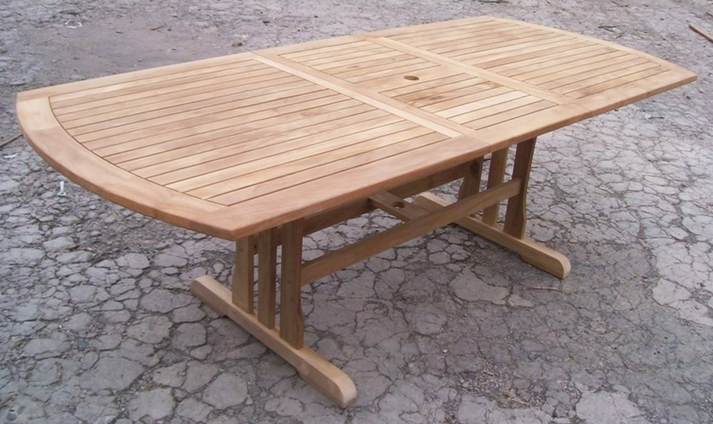 Table Teck Jardin. Good Beautiful Table Jardin Teck Brut Amazing ...