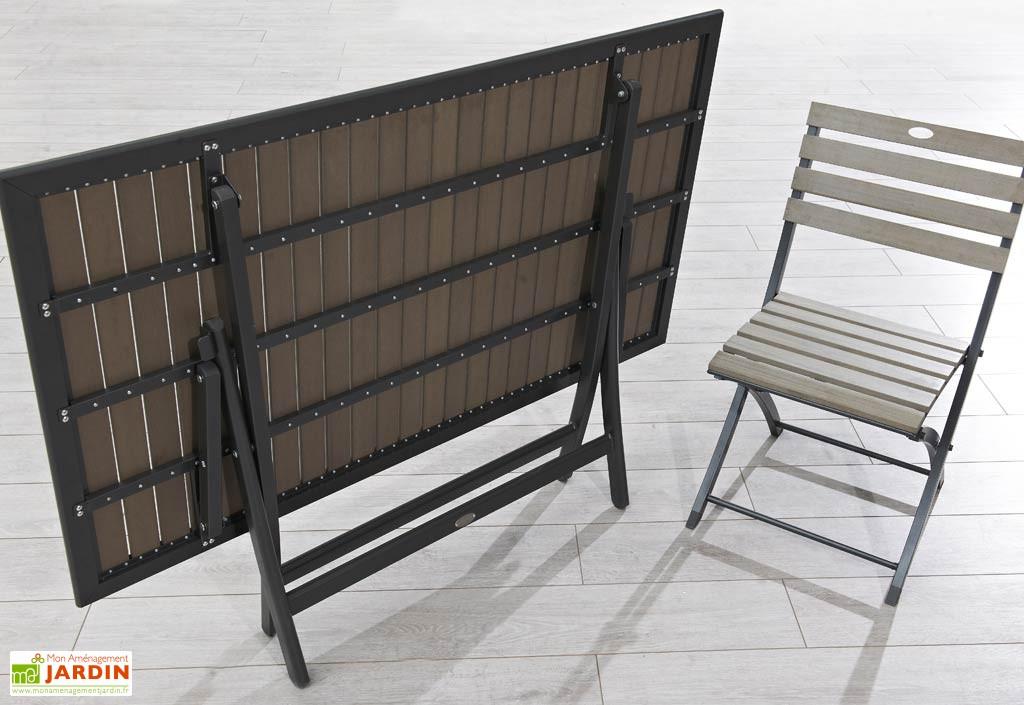 Table De Jardin Extensible Aluminium Et Composite. Awesome Table De ...