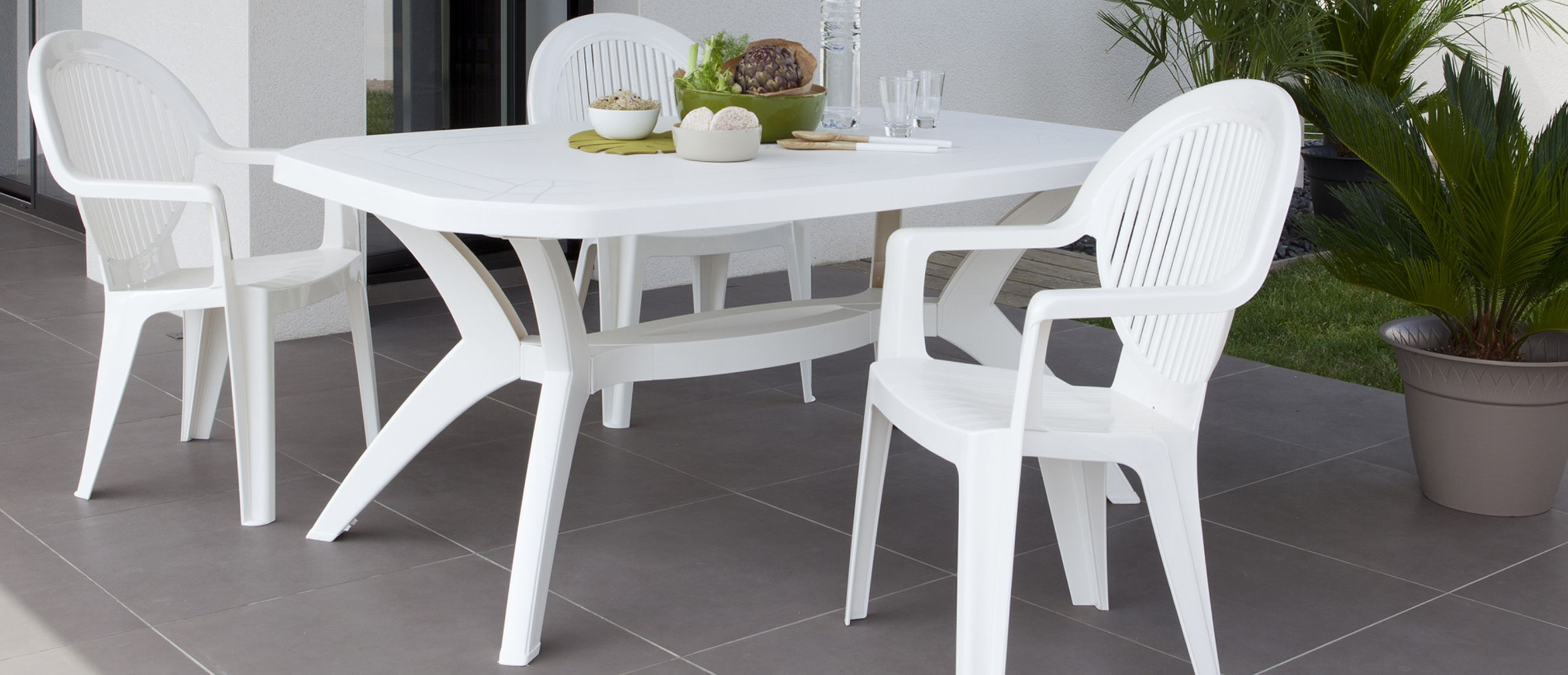 Best Grande Table De Jardin Pvc Images Design Trends 2017  # Salon De Jardin Avec Table Ovale