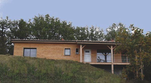 Maison bois 100000
