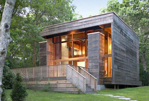 Maison bois cube