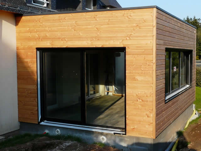 Maison extension bois perfect maison extension bois with for Cout agrandissement garage