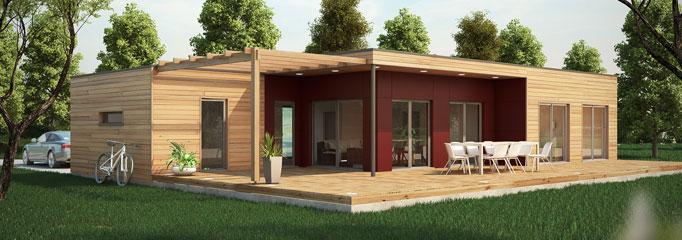 Maison en bois contemporaine en kit prix - maison parallele