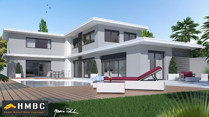 Constructeur maison bois contemporaine prix maison parallele - Prix maison moderne ...