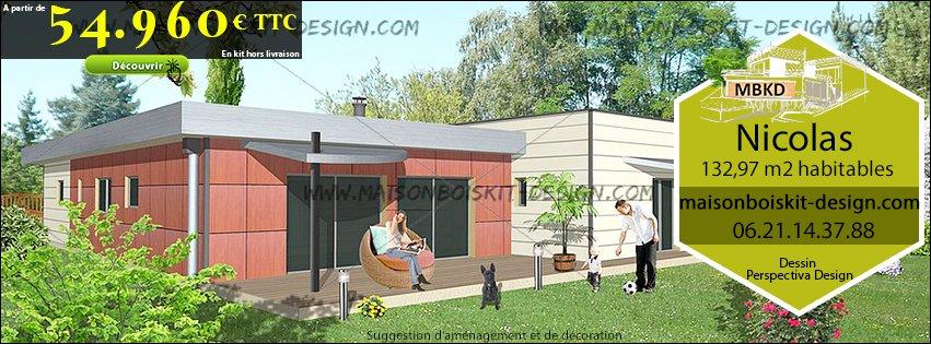 Maison bois design prix