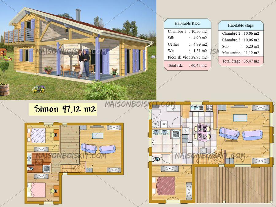 Maison bois 90m2