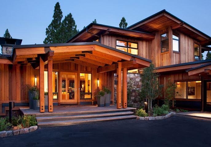 Maison bois moderne - maison parallele