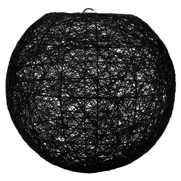 Lustre boule noir