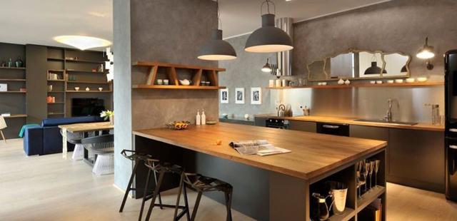 Cuisine ouverte avec ilot bar maison parallele - Cuisine ouverte sur salon avec bar ...