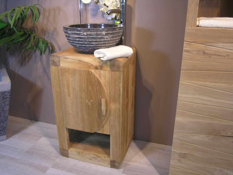 Petit meuble salle bain maison parallele - Petit meuble colonne salle de bain ...