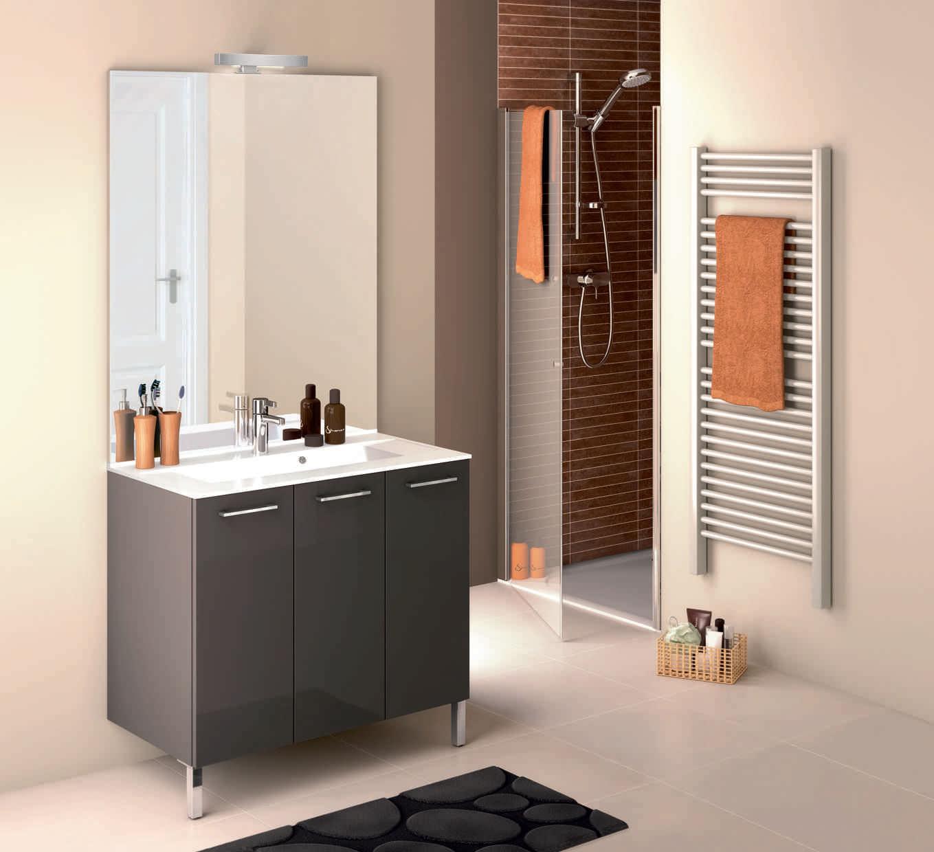 Meuble lavabo miroir salle de bain