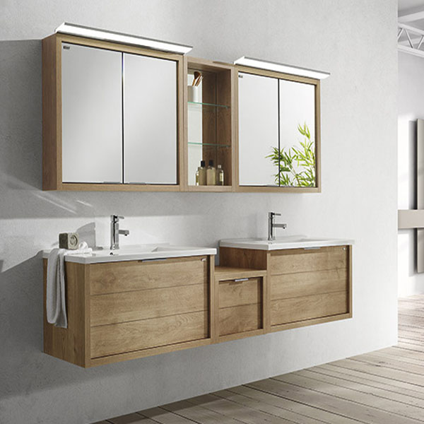 Meuble salle de bain bois solde maison parallele - Meuble salle de bain en solde ...