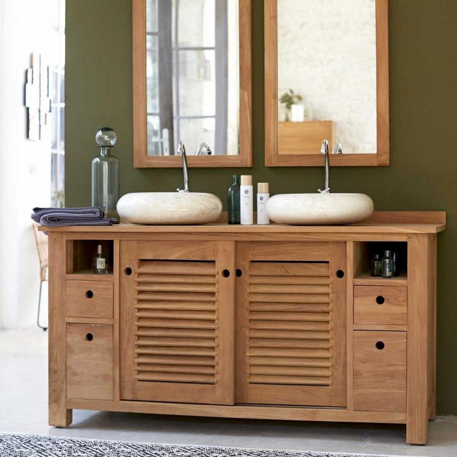 Soldes meuble vasque maison parallele for Salle de bain soldes