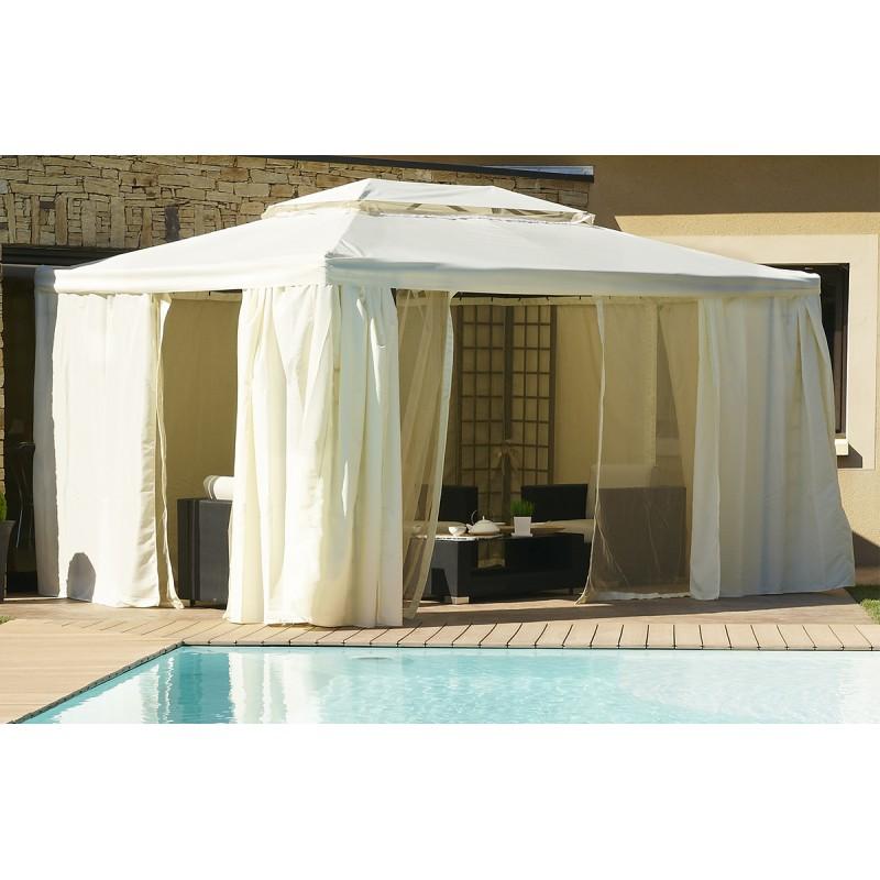 tonnelle toit rigide 4mx3m maison parallele. Black Bedroom Furniture Sets. Home Design Ideas
