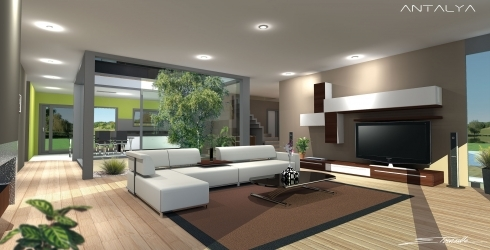 Maison moderne interieure