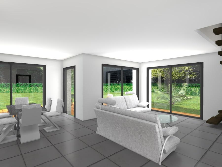 Interieur maison contemporaine - maison parallele
