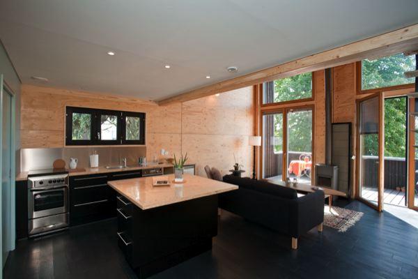 Interieur maison bois contemporaine - maison parallele