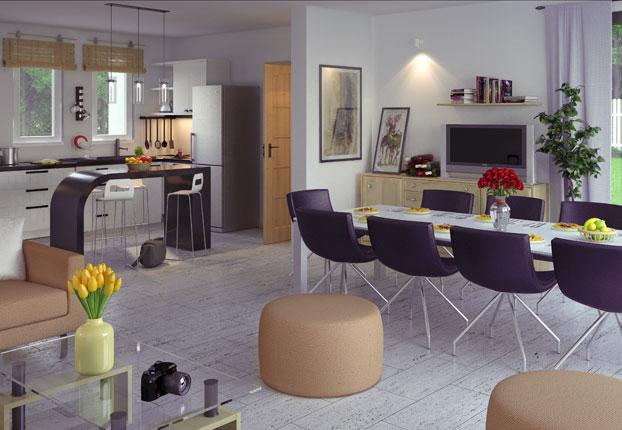 Modele d intérieur de maison - maison parallele