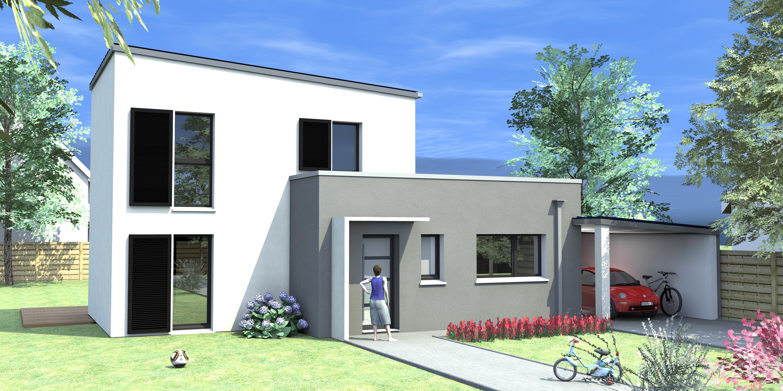 modele maison ossature bois plain pied maison parallele. Black Bedroom Furniture Sets. Home Design Ideas