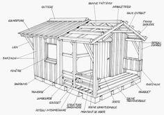 Cabane bois plan