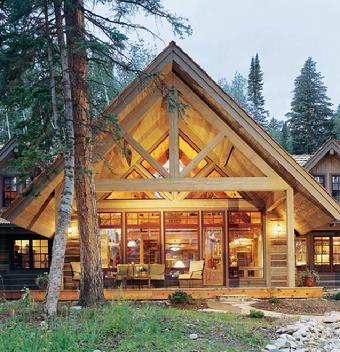 Maison bois en l