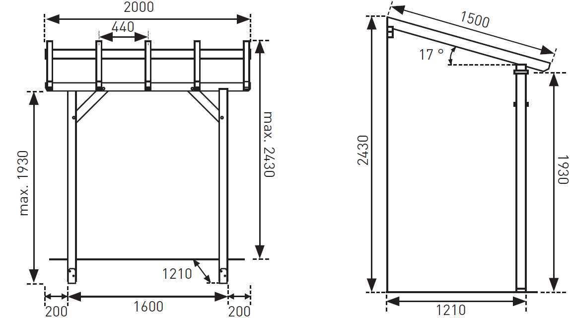 plan abri bois maison parallele. Black Bedroom Furniture Sets. Home Design Ideas