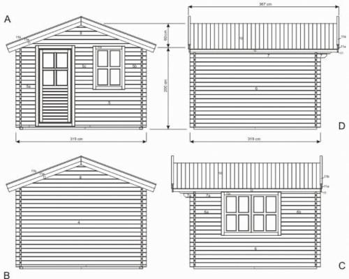Plan cabane de jardin en bois