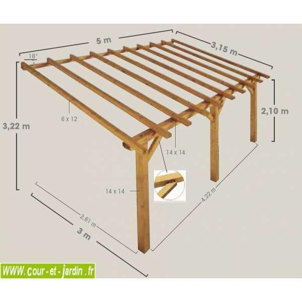 plan auvent bois maison parallele. Black Bedroom Furniture Sets. Home Design Ideas