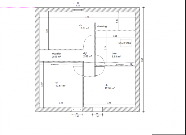 Plan maison etage 110m2