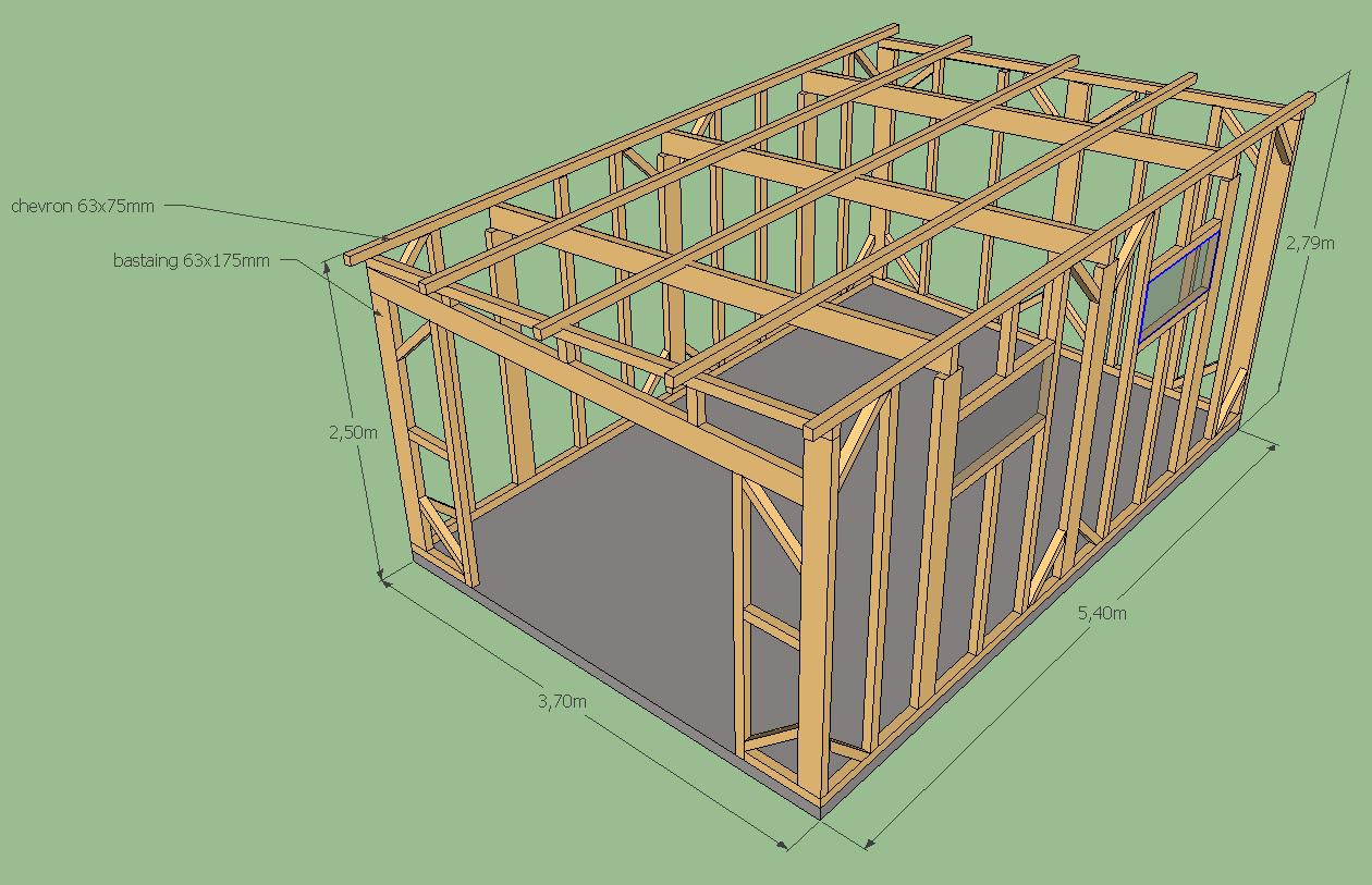 Plan d un abri de jardin en bois