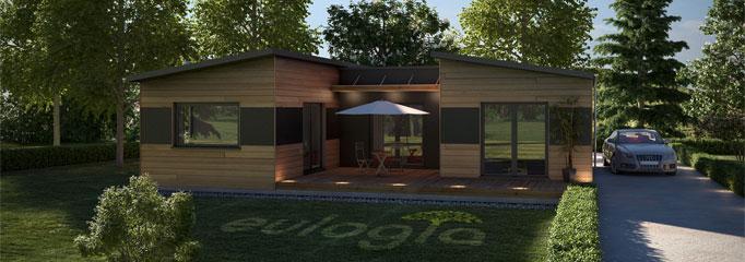 Maison de plain pied en bois
