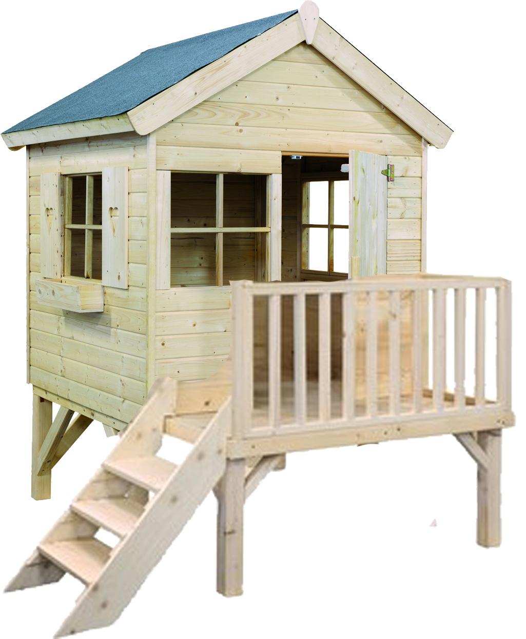 cabane en bois sur pilotis pas cher maison parallele. Black Bedroom Furniture Sets. Home Design Ideas