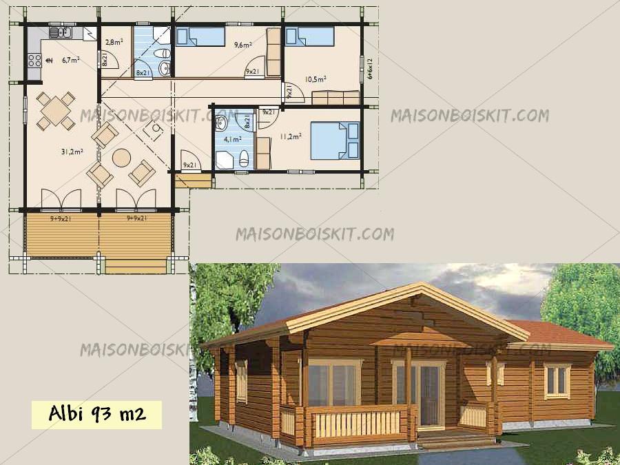 Maison chalet bois