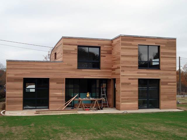 Maison en bois plan - maison parallele