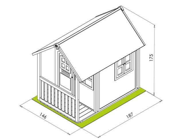 Dimension cabane enfant - maison parallele