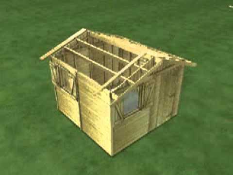 Fabrication cabane de jardin en bois