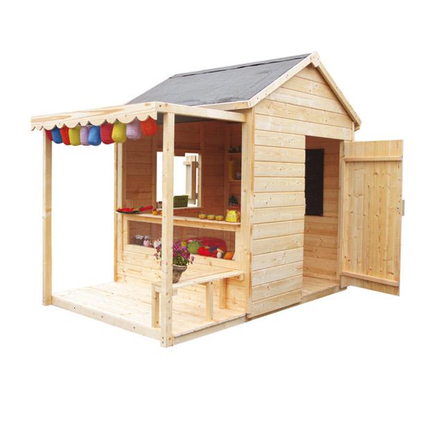 Cabane en bois jardin enfant maison parallele - Cabane de jardin en bois pour enfants ...