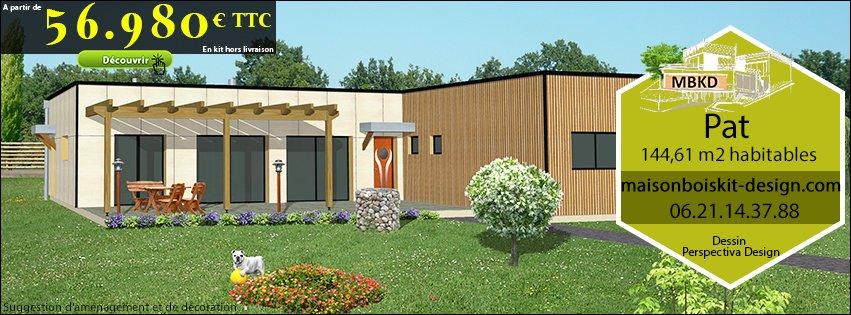 Maison kit bois contemporaine